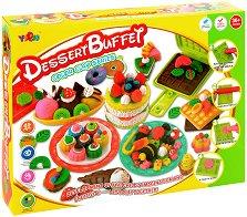 """Направи сам - Десерти - Творчески комплект от серията """"Color Clay Series"""" - играчка"""