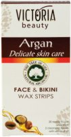 Victoria Beauty Argan Face & Bikini Wax Strips - Депилиращи ленти за лице и бикини зона с арганово масло - маска