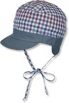 Бебешка двулицева шапка с UV защита - 100% памук -