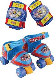 """Детски регулируеми ролкови кънки - Пес Патрул - Комплект с протектори от серията """"Пес патрул"""" -"""