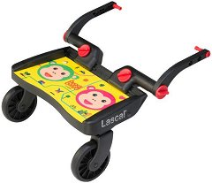 Универсален слайдър за второ дете - BuggyBoard Mini: Monkeys - Аксесоар за детска количка - пюре
