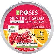 Nature of Agiva Roses Fruit Salad Nourishing Sugar Scrub - Захарен скраб за лице и тяло със сок от нар и портокал - маска