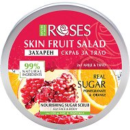 Nature of Agiva Roses Fruit Salad Nourishing Sugar Scrub - Захарен скраб за лице и тяло със сок от нар и портокал - шампоан