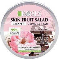 Nature of Agiva Roses Fruit Salad Nourishing Sugar Scrub - Захарен скраб за лице и тяло с розова вода, йогурт и шоколад - гел