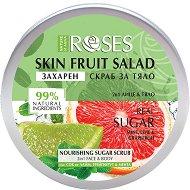 Nature of Agiva Roses Fruit Salad Nourishing Sugar Scrub - Захарен скраб за лице и тяло с лайм, грейпфрут и мента - серум