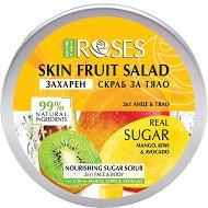 Nature of Agiva Roses Fruit Salad Nourishing Sugar Scrub - Захарен скраб за лице и тяло с манго, киви и авокадо -