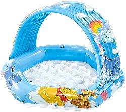 Надуваем детски басейн със сенник - Мечо Пух - творчески комплект
