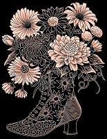 Създай сам медна гравюра - Цветя в ботуш - Творчески комплект -