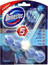 Ароматизатор за тоалетна - Domestos Power 5 - С аромат на океан - опаковки от 1 ÷ 5 броя - продукт