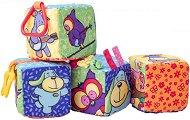 Меки бебешки кубчета - Комплект от 4 броя - образователен комплект