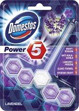 Ароматизатор за тоалетна - Domestos Power 5 - С аромат на лавандула - опаковка от 1 брой -