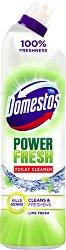 Препарат за тоалетна с аромат на лайм - Domestos Power Fresh - Разфасовка от 0.700 l -