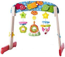 Активна гимнастика - Слънчев ден - Дървена играчка за бебета -