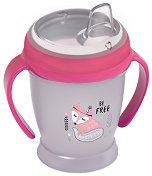 Неразливаща се чаша с мек накрайник и дръжки - Indian Summer 210 ml - За бебета над 9 месеца -
