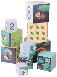 Кубчета - Горски животни - Комплект за игра - играчка