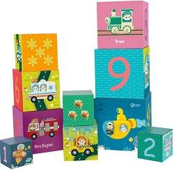 Кубчета - Превозни средства - Комплект за игра - играчка