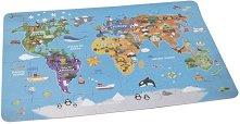 Карта на света - Детски дървен пъзел - пъзел