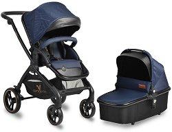 Бебешка количка 2 в 1 - Mira - С 4 колела -