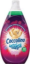 Омекотител за пране с аромат на фуксия - Coccolino Intense - Разфасовки от 570 ÷ 960 ml -