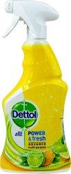 Антибактериален почистващ препарат с цитрусов аромат - Dettol Power & Fresh - Разфасовка от 0.500 l - продукт