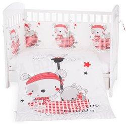 Бебешки спален комплект от 3 части - Pirates EU Stile - 100% ранфорс за легло с размери 70 x 140 cm -