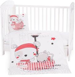 Бебешки спален комплект от 5 части - Pirates - 100% ранфорс за матраци с размери 60 x 120 cm и 70 x 140 cm -