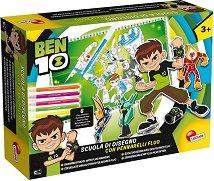 Комплект за оцветяване - Ben 10 - Творчески комплект с фигурки на героите и фосфоресциращи маркери -