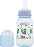 Стандартно шише за хранене - 150 ml - Комплект със силиконов биберон за бебета от 0+ месеца -