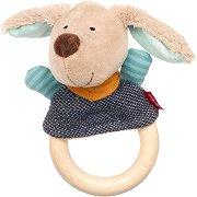 Кучето Hugge Hug - Дървена дрънкалка -