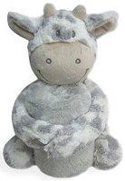 Бебешко одеяло - 70 x 100 cm - Комплект с плюшена кравичка -