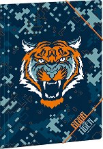 Папка с ластик - Roar of the tiger - Формат A4