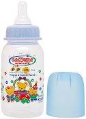 Стандартно шише за хранене - Мече 150 ml - Комплект със силиконов биберон за бебета от 0+ месеца -