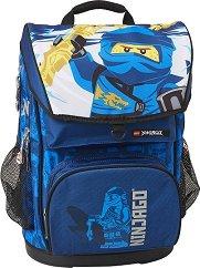 Ученическа раница - LEGO Ninjago: Jay of Lightning - Комплект със спортна чанта -