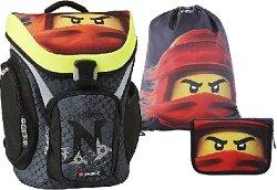 Ученическа раница - LEGO Ninjago: Kai of Fire - Комплект със спортна торба и несесер - продукт