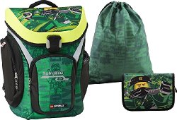 Ученическа раница - LEGO Ninjago: Lloyd Explorer - Комплект със спортна торба и несесер -
