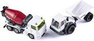 Бетоновоз и самосвал - Метални колички - играчка