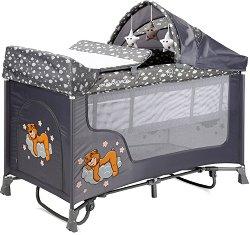 Сгъваемо бебешко легло на две нива - San Remo 2 Layers Rocker 2020 - С люлеещ механизъм -