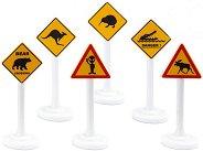Пътни знаци - Детски комплект за игра -