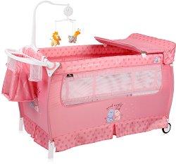 Сгъваемо бебешко легло на две нива - Sleep N Dream 2020 - Комплект с аксесоари -