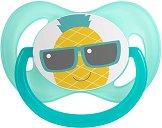 Силиконова залъгалка със симетрична форма - So Cool Turquoise - За бебета от 0+ до 6 месеца -