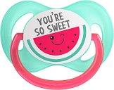 Силиконова залъгалка със симетрична форма - So Cool Pink - За бебета от 6 до 18 месеца -