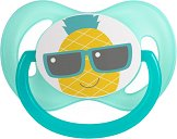 Силиконова залъгалка със симетрична форма - So Cool Turquoise - За бебета от 6 до 18 месеца -