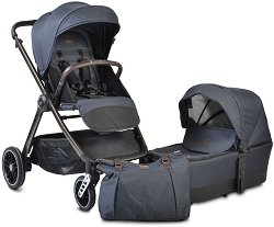 Бебешка количка 2 в 1 - Macan - С 4 колела -