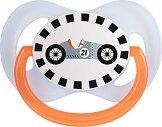 Силиконова залъгалка със симетрична форма - Racing - За бебета от 0+ до 6 месеца -