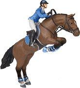 Скачащ кон с жокей -