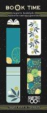 Магнитни книгоразделители - Лимони и цветя -