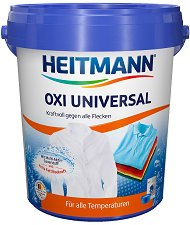 Препарат срещу петна за бяло и цветно пране - Heitmann Oxi Universal - Разфасовка от 750 g -