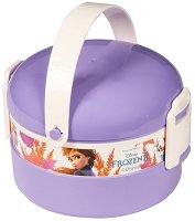 Кутия за храна - Замръзналото кралство - Комплект с прибор за хранене - детска бутилка