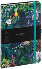 Castelli: Луксозен тефтер с ластик - продукт
