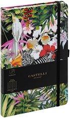 Castelli: Луксозен тефтер с ластик -